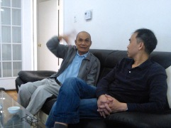 In March 2015, Tuong Vu (left) and I visited the late Vietnamese historian Tạ Chí Đại Trường in Garden Grove, Calif.