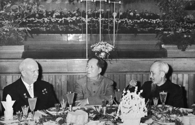 Nikita Kruschev, Mao Tse-Tung, and Ho Chi Minh