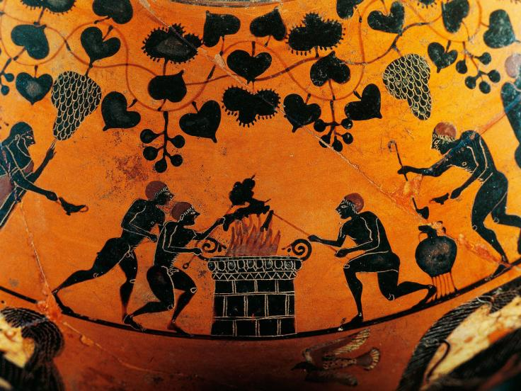 ancient greeks roasting